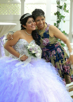 Birthday Girl & Her Mother - Quinceanera Venue